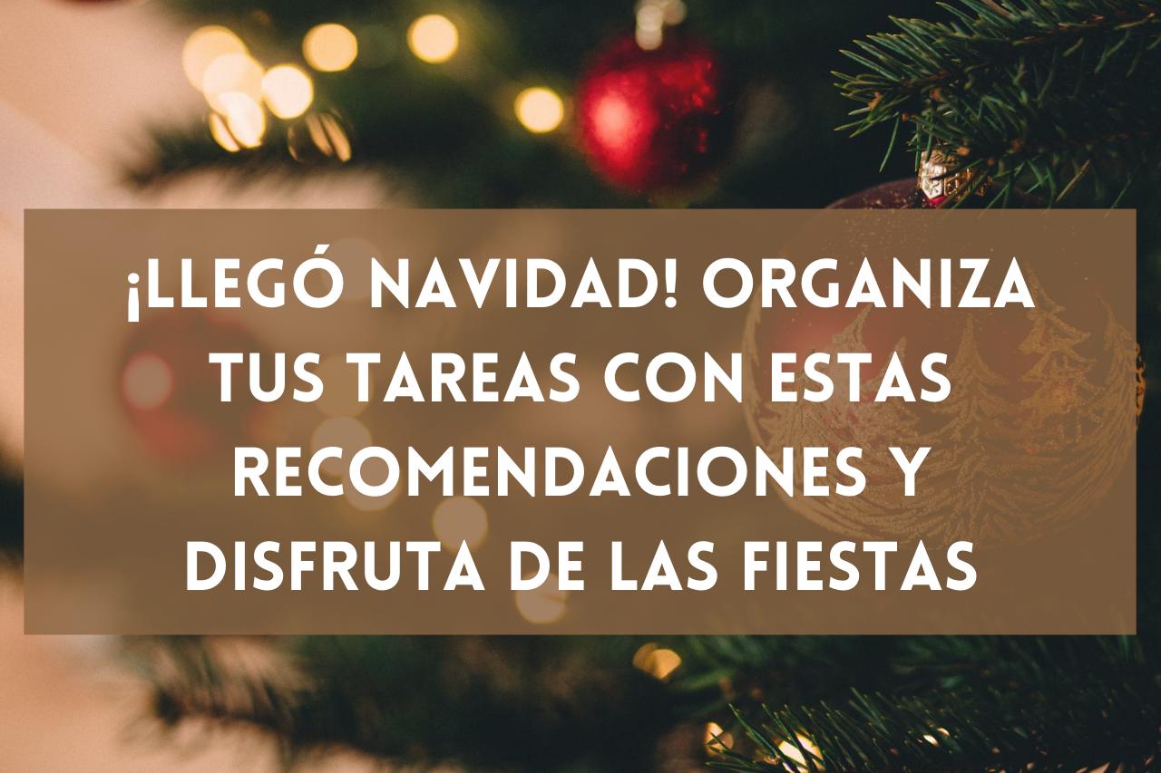 En este momento estás viendo ¡Llegó Navidad! Organiza tus tareas con estas recomendaciones y disfruta de las fiestas