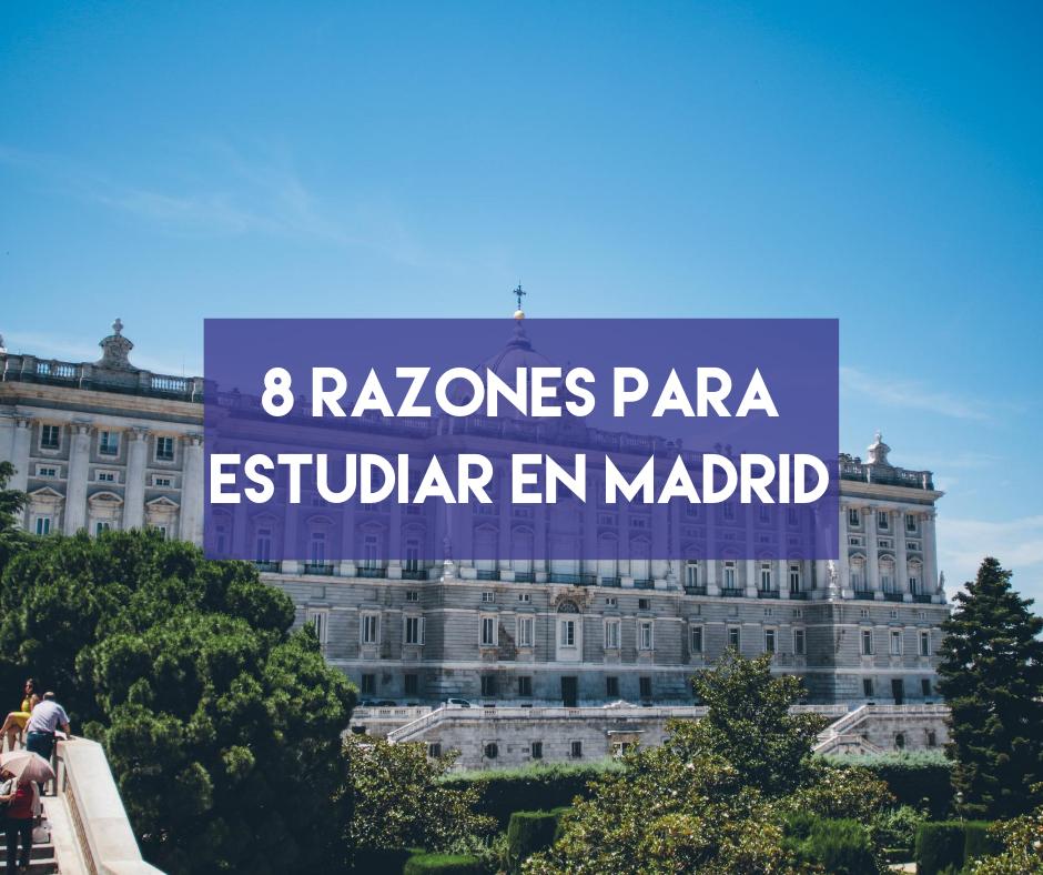 En este momento estás viendo 8 razones para estudiar en Madrid